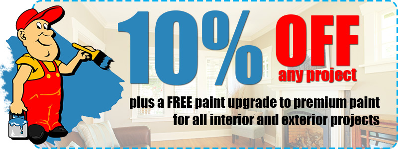 10% Discount on all Interior & Exterior Painting Projects